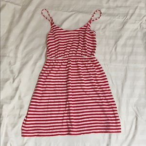 J. Crew red and white stripped dress